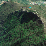 Forte di Rocca Liverna su Google Earth