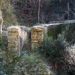 Acquedotto in sezione al fossato di Costa Fredda