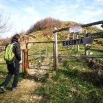 Il cancello dell'eremita al Monte Bastia