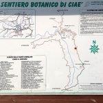 Il pannello del sentiero botanico di Ciaè