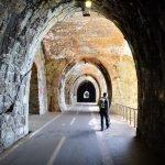 Nelle gallerie tra Framura e Bonassola