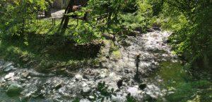 L'ansa del rio sotto il Rifugio Ciaè