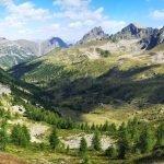 Panorama nei pressi del Colle della Lombarda